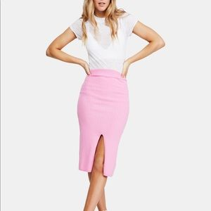 Free People ribbed midi sweater skirt Small